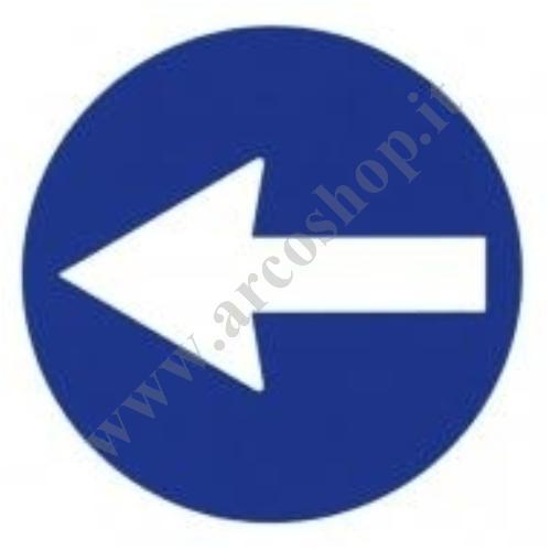 002192 - ADESIVO ROTONDO DIAM 19,5 CM CON IDENTIFICAZIONE SEGNALE DELLA FRECCIA 5Q010096ZZ