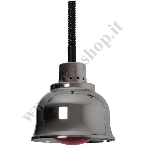 002589 - LAMPADA RISCALDANTE RAME CROMATO LC25R